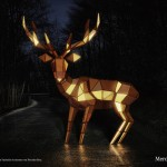 Mercedes' Gold, Faceted Deer Ad