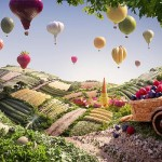 photos of landscapes made out of food