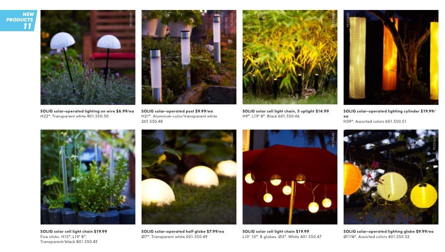 ikea solar garden lights