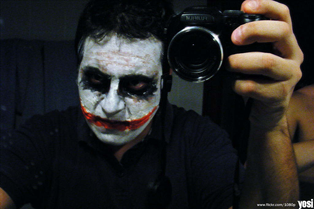 dark knight joker makeup. Dark Knight Joker for