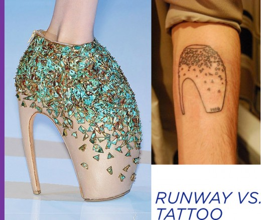Brand tattoos are slightly uncommon. What about shoe brands?