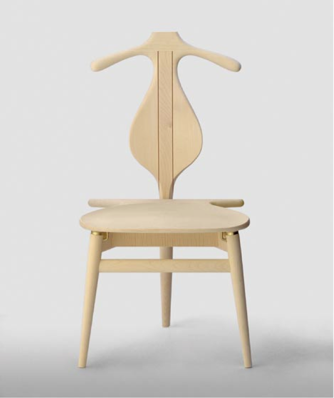 This valet chair would be a better way to go.